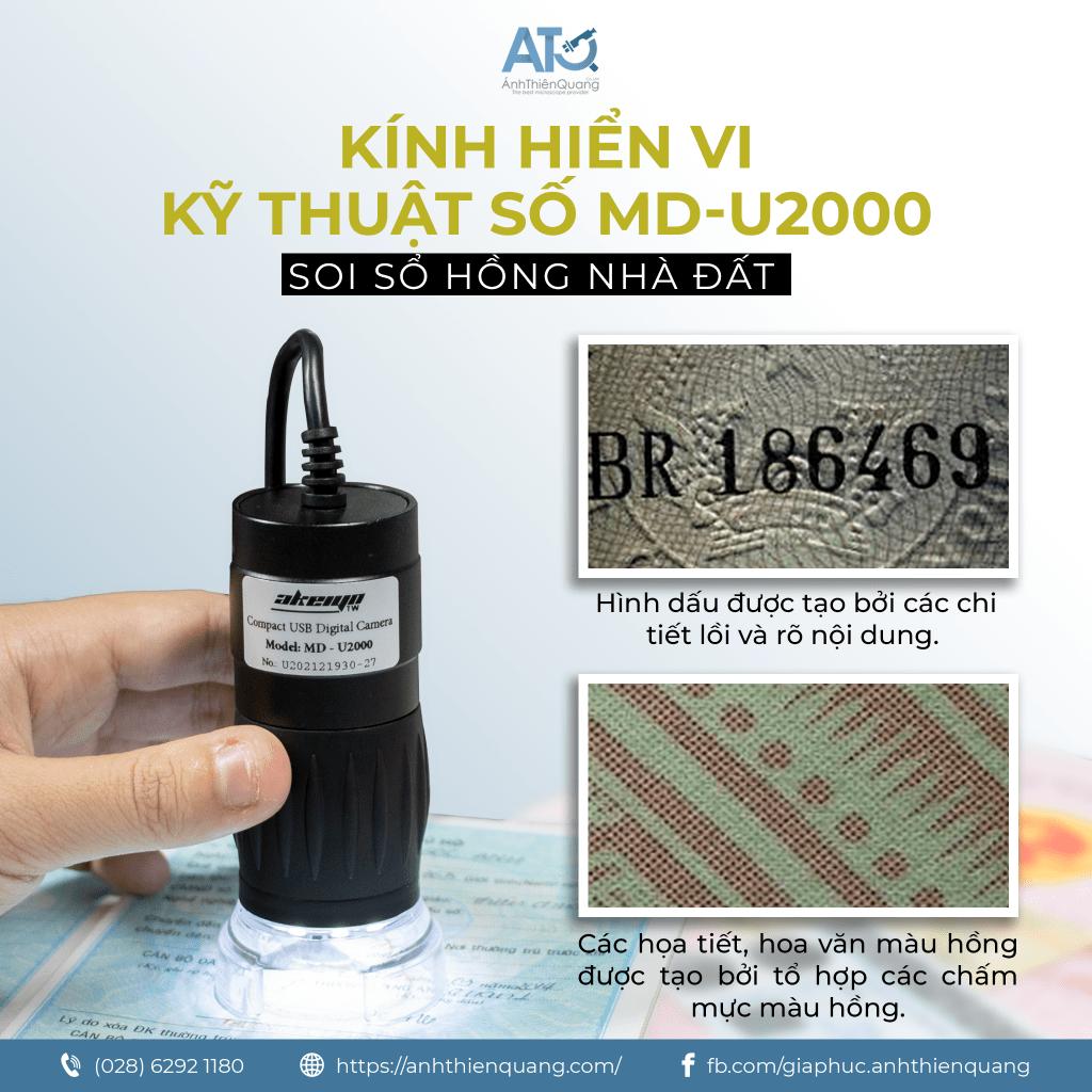 Kính hiển vi kỹ thuật số MD-U2000 và đèn soi UV